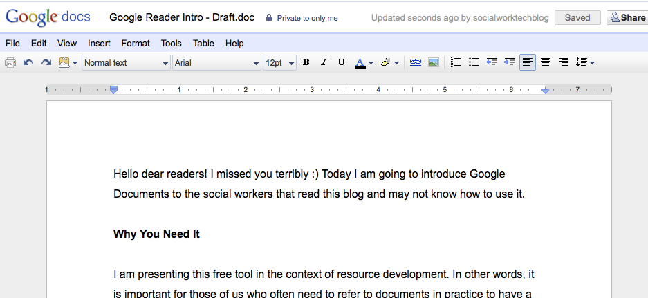 Google Docs - How to Upload: Step 5