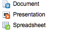 Google Docs = Microsoft Word, Excel, PowerPoint