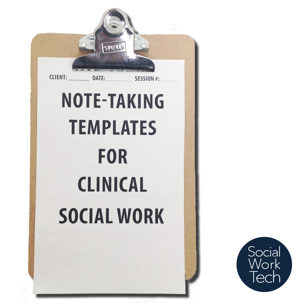 Clinical Note Template from socialworktech.com