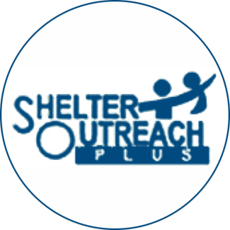 Shelter Outreach Plus logo in round circle