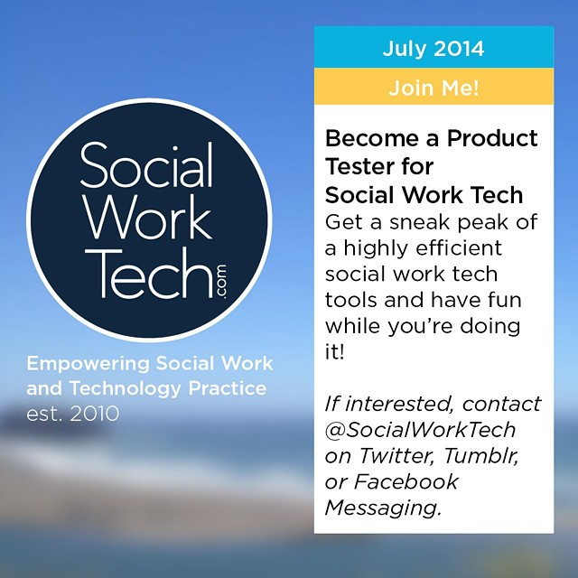 Now Recruiting: Product Testers I'm looking for clinical #socialwork/ers with a tablet (iPad or Surface) that work with clients that have experienced domestic violence. If you're interested in testing out a product I have developed, please inbox me, tweet me @SocialWorkTech, or send me an email: iggy@socialworktech.com.